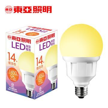 東亞14W LED球型燈泡-燈泡色