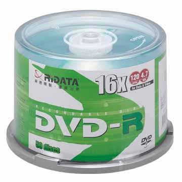 RIDATA 光碟片16X DVD-R/50片桶裝