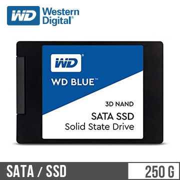 """WD SSD Blue系列-2.5""""250G固態硬碟(3D TLC)"""