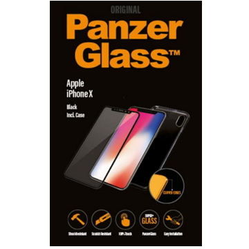【iPhone X】PanzerGlass 3D滿版鋼化玻璃保護貼 - 黑