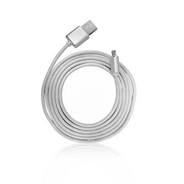 Hawk Micro USB 鋁合金充電傳輸線-1.5M(灰) 04-KMM151GA
