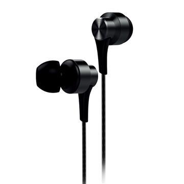 aiwa 入耳式耳機麥克風-黑 EW101BK