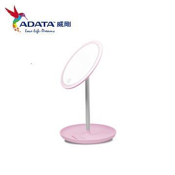 ADATA 威剛LED心肌補光化妝鏡檯燈(粉)