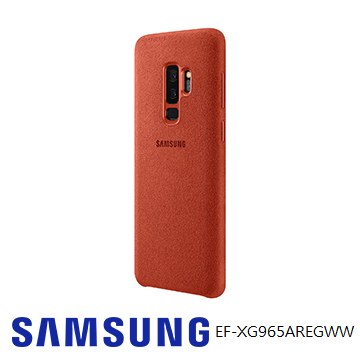 SAMSUNG Galaxy S9+ Alcantara 義大利麂皮背蓋 - 紅色