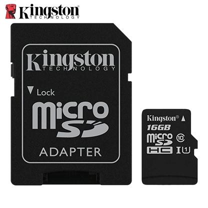 金士頓Kingston Canvas SelectMicroSDHC/UHS-I C10 16GB 記憶卡 (含轉卡)