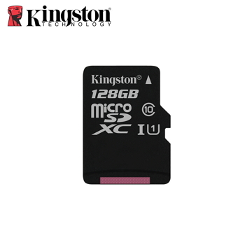 「公司貨」【UHS-I / 128G】金士頓 Kingston Canvas Select (C10) MicroSD記憶卡