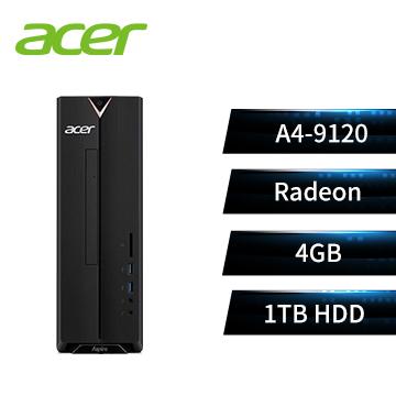 宏碁Acer Aspire XC-330 文書桌機(AMD A4-9120/4GD4/1TB/W10)