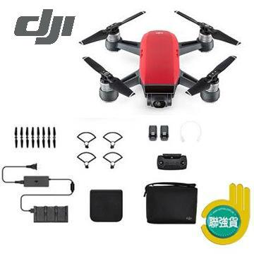 DJI Spark 迷你航拍機-全能套裝(紅)