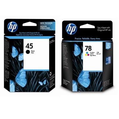 【同捆組】HP 45號黑色原廠墨水匣+78號三色原廠墨水匣