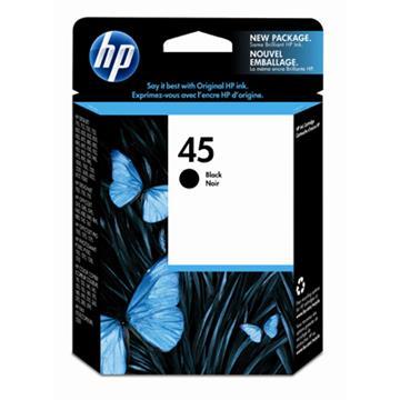 惠普HP 45號黑色原廠墨水匣