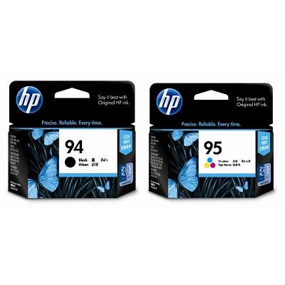 【同捆組】HP 94號黑色原廠墨水匣+95號三色原廠墨水匣