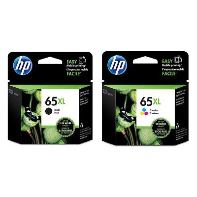 HP 65號XL黑色+三色原廠墨水匣