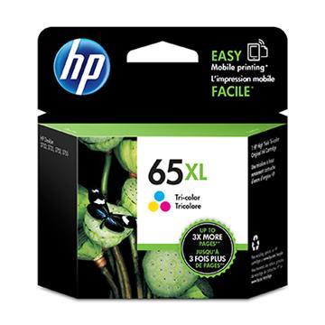 HP 65號XL三色原廠墨水匣 N9K03AA