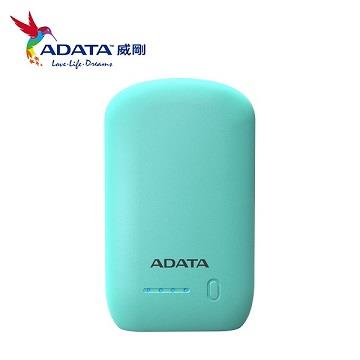 【拆封品】ADATA 10050mAh行動電源 - 淺綠色 AP10050-DUSB-5V-CGN-TW