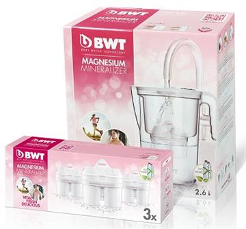 BWT德國倍世 鎂離子健康壺超值組(雪花白)