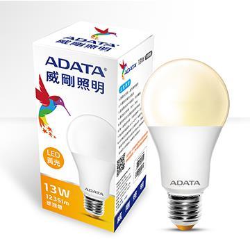 ADATA 威剛13W高效能LED球泡燈-黃光 AL-BUA19C1-13W30C