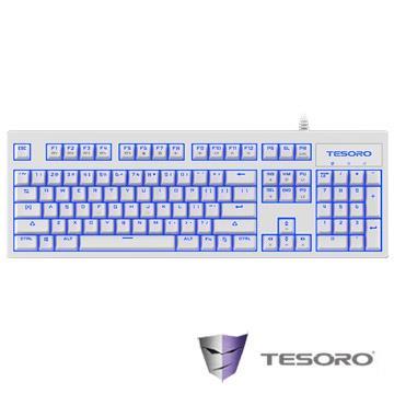 TESORO Excalibur V2鍵盤-白(青軸/中文版)