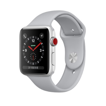 【LTE版 42mm】Apple Watch S3/銀鋁/薄霧灰運動錶帶