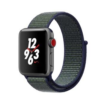 【LTE版 38mm】Apple Watch S3 Nike+/太空灰鋁/薄霧灰錶環