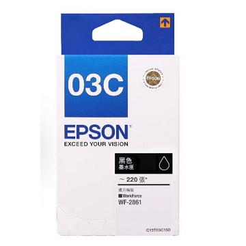 愛普生EPSON T03C原廠黑色墨水