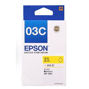 EPSON T03C原廠黃色墨水