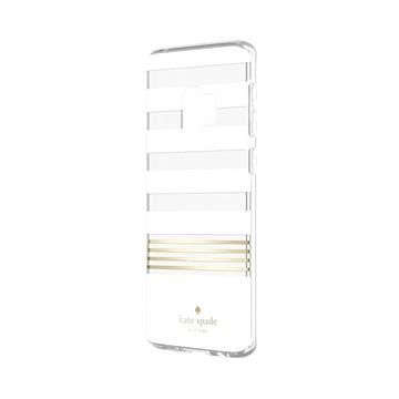 SAMSUNG S9+ Kate Spade 黑白條紋硬殼背蓋