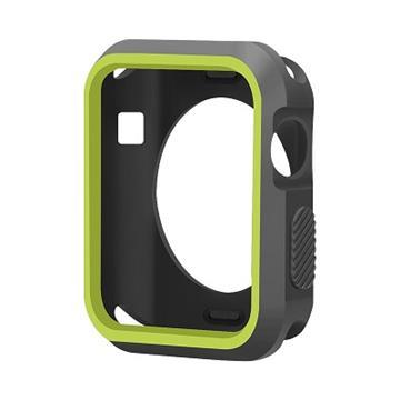 【38mm】NYMPH BLUE Apple Watch輕薄彈性保護套 - 黑綠色