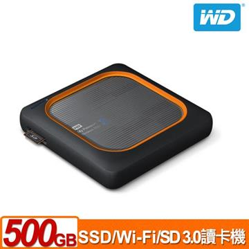 WD My Passport Wireless 500G外接固態硬碟 WDBAMJ5000AGY-PESN