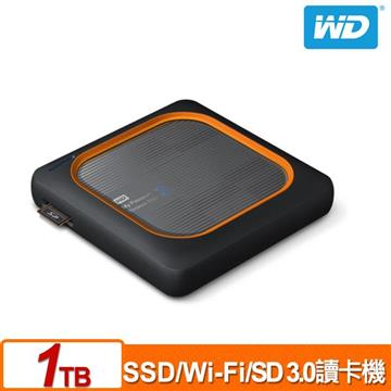 【1TB】WD My Passport Wireless 外接固態硬碟 WDBAMJ0010BGY-PESN
