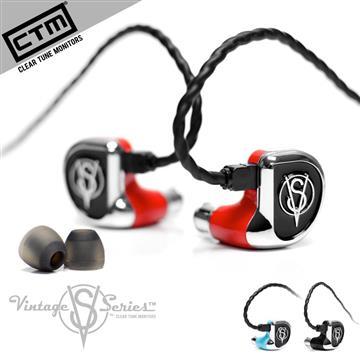 CTM VS-2雙動鐵單元可換線繞耳式耳機-紅
