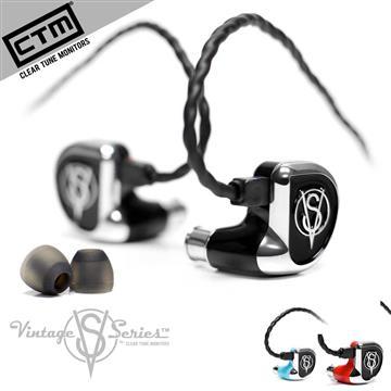 CTM VS-4四動鐵單元可換線繞耳式耳機-黑