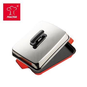摩堤 A5 鑄鐵平烤盤 紅