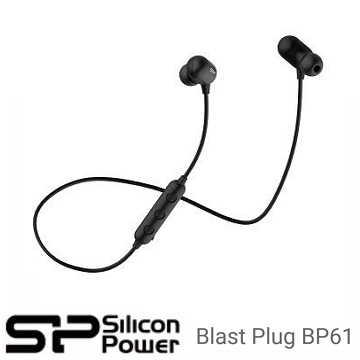 廣穎 Silicon-Power Blast Plug BP61 運動型V4.1藍芽耳機 - 黑色 SP3MWASYBP61BT0K