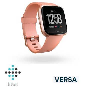 【經典款】Fitbit Versa 智慧手錶 - 玫瑰金錶框桃紅色錶帶