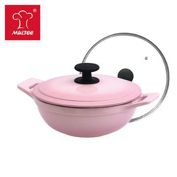摩堤 20cm 鑄鐵媽媽鍋 晶鑽粉 SE-02282-05