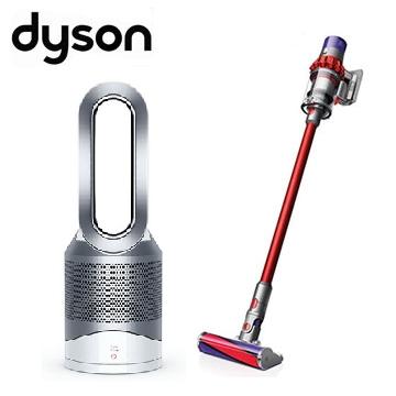 (限時優惠組) 戴森Dyson V10 Fluffy無線吸塵器+三合一涼暖空氣清淨機HP00