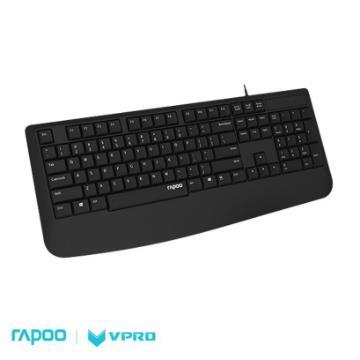 雷柏 NK1900 USB有線鍵盤-黑