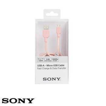 SONY USB 1.5M 原廠充電傳輸線 - 粉紅 CP-ABP150/PC