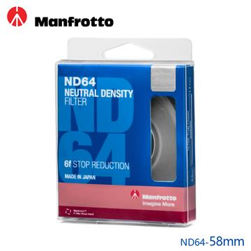 Manfrotto 減光鏡 58mm ND64