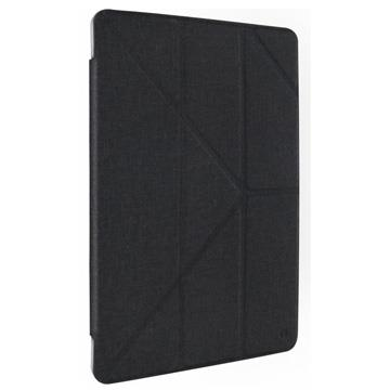 "【iPad 9.7"" 】JTLEGEND 折疊布紋皮套 - 黑色"
