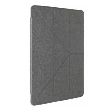 """【iPad 9.7"""" 】JTLEGEND 折疊布紋皮套 - 灰色"""