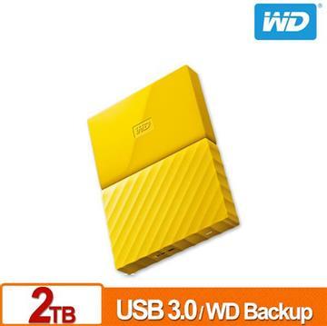 WD 2.5吋 2TB行動硬碟My Passport(黃-薄型)