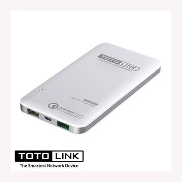 【QC 3.0 / 10000mAh】TOTO-LINK 閃充輕薄行動電源