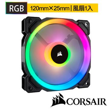 CORSAIR LL120 RGB LED120mm PWM風扇 LL120RGB