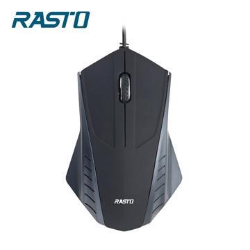 RASTO RM2翼有線光學滑鼠-黑 R-PCA002