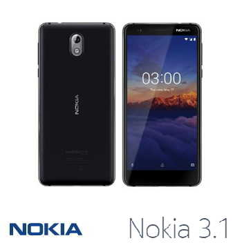 【2G / 16G】NOKIA 3.1 5.2吋 Android One智慧型手機 - 黑色