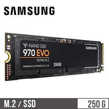 「公司貨」【250G】SAMSUNG 970 EVO M.2 固態硬碟