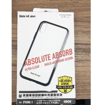 【Phone X】imosCase 軍規防震保護殼 - 黑nk4