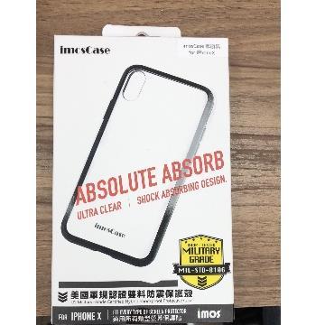 【Phone X】imosCase 軍規防震保護殼 - 磨砂透