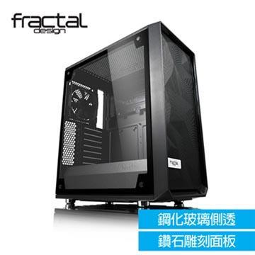 【Fractal Design】 Meshify C - TG 淺色鋼化玻璃透側電腦機殼 FD-CA-MESH-C-BKO-TGL